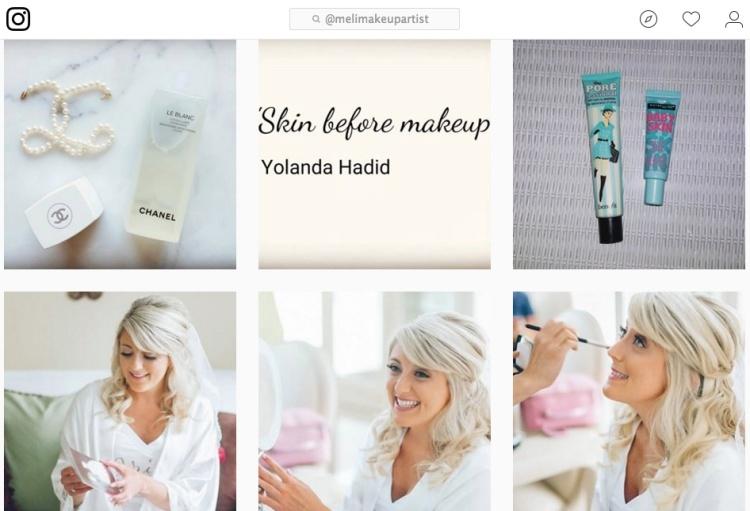 Meli Makeup Artist Instagram